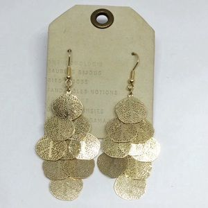 NWT Anthropologie Golden Leaves Pieces Earrings